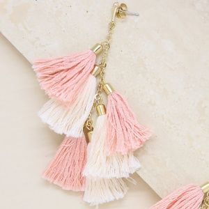 Ettika Daydreamer Tassel Earrings in Peach & Gold